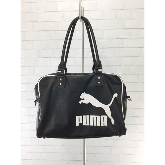 GUC Puma Faux Leather Gym Bag School Work Travel. M 5a5a9f38fcdc31c05127ec4f a17be87cdd137